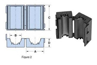 Ferrite Split Bead Dimensions