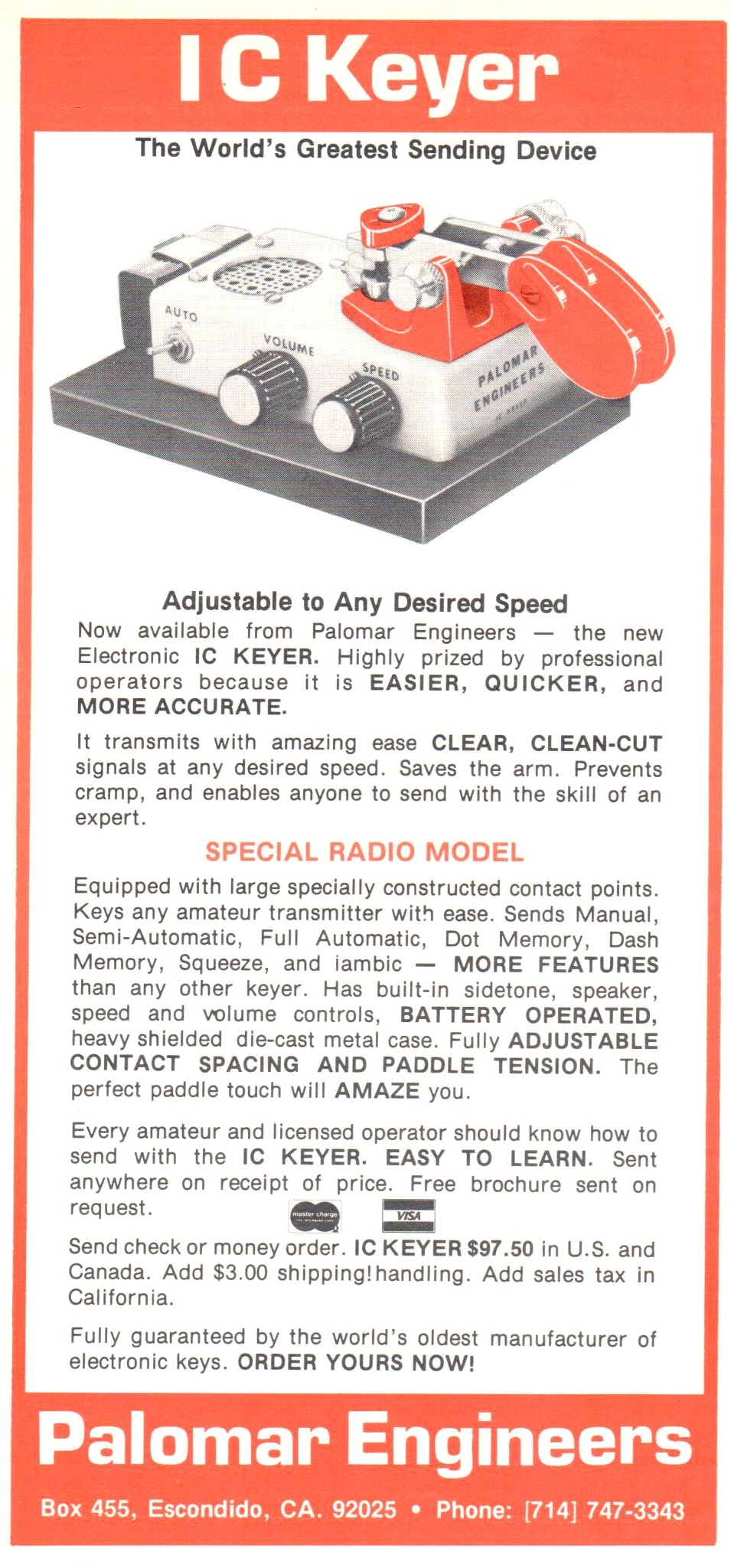 IC Keyer - 1979 Ad