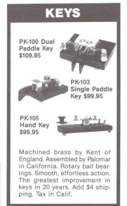 PK-100, PK-103, PK-105 Keys