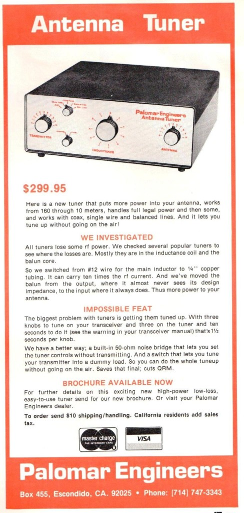 Palomar Antenna Tuner HR Jan 1980 Cropped