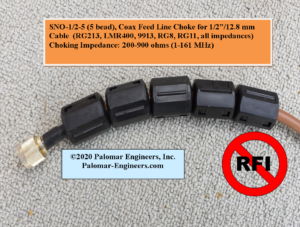 Palomar Engineers SLO .5 5 Choke Product 300x227 - Coax Feed Line Common Mode Chokes (1:1)