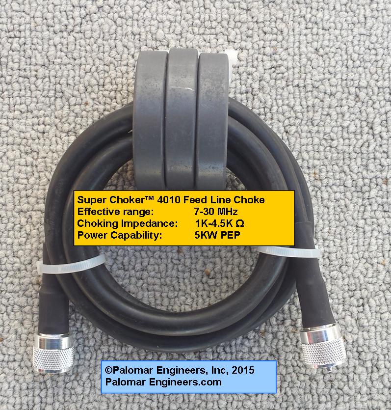 Super Choker 4010 Product - Coax Feed Line Common Mode Chokes (1:1)